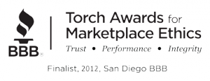 BBB Torch Award San Diego Law Firm